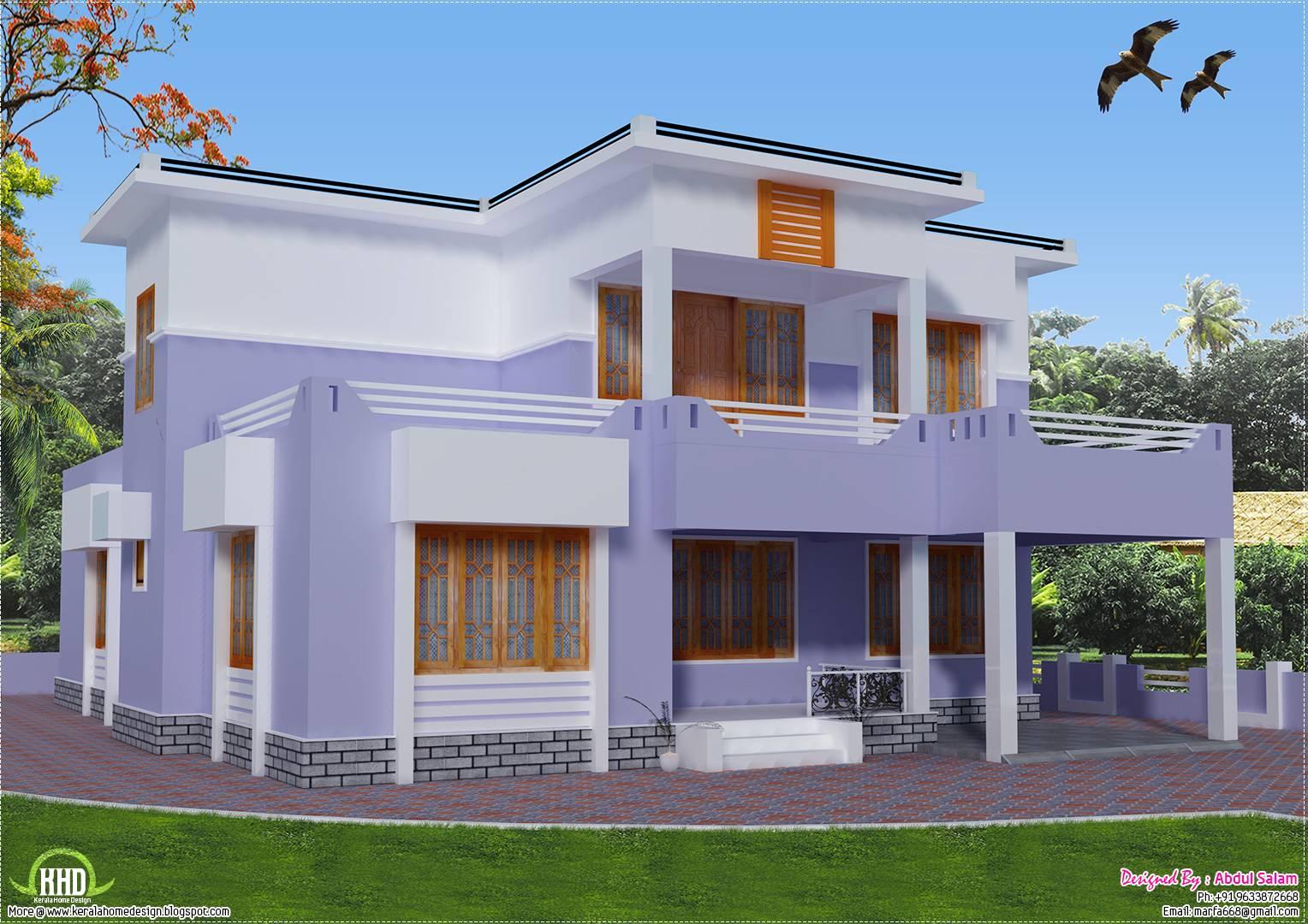 Feet Flat Roof House Design Kerala Home Floor Plans House Plans 77867