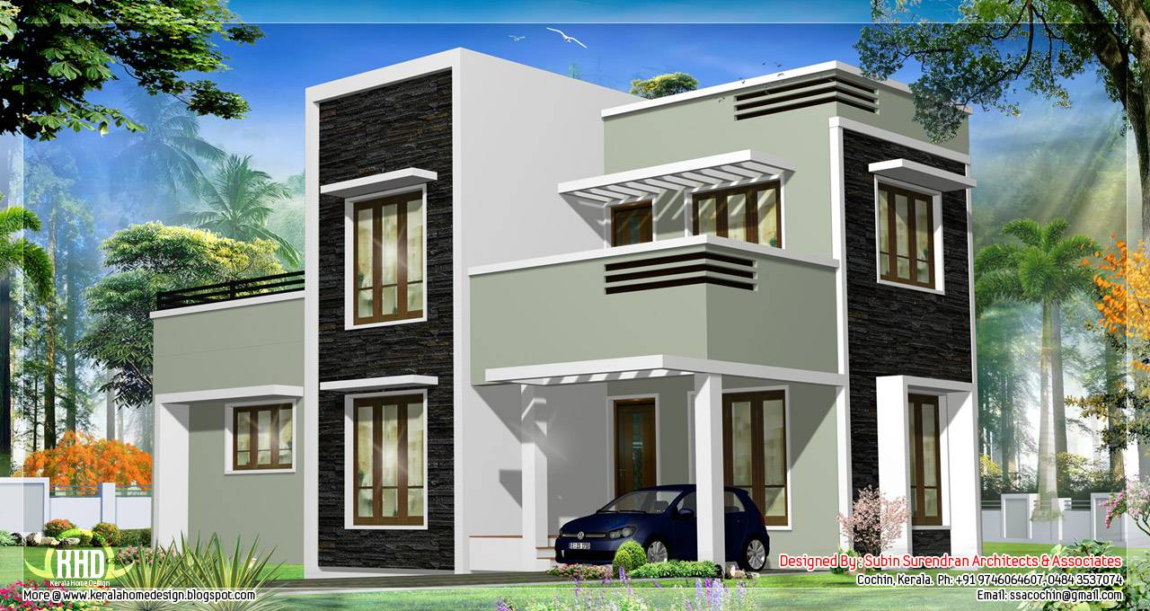 Feet Kerala Flat Roof Home Design Floor Plans House Plans 66929