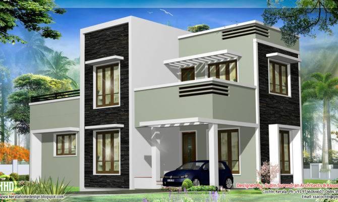 Feet Kerala Flat Roof Home Design