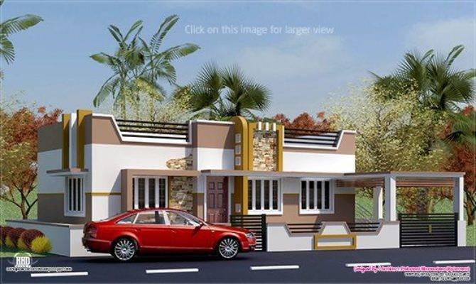 Feet Minimalist Single Floor House Kerala Home