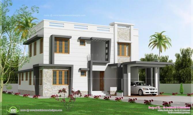 Feet Modern Villa Design Indian House Plans