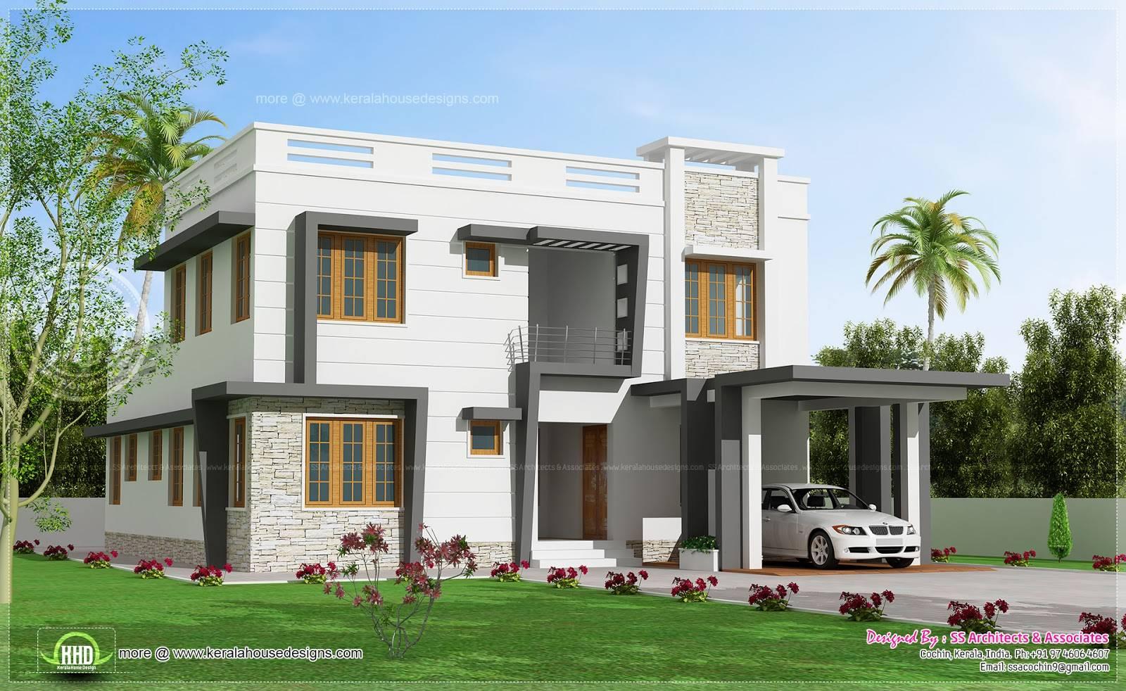 Feet Modern Villa Design Indian House Plans House Plans 15354