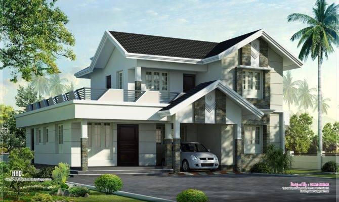 Feet Nice Home Exterior Design Kerala