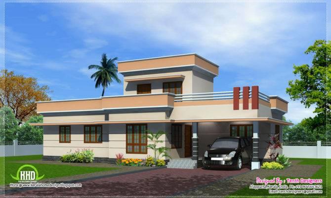 Feet One Floor House Exterior Kerala Home Design