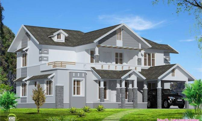 Feet Sloping Roof Home Design House Plans