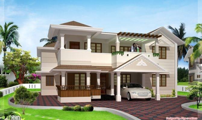 Feet Two Floor House Design Kerala Home