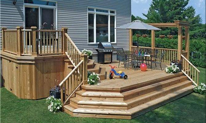 Fence All Two Storey Pre Stained Cedar Deck