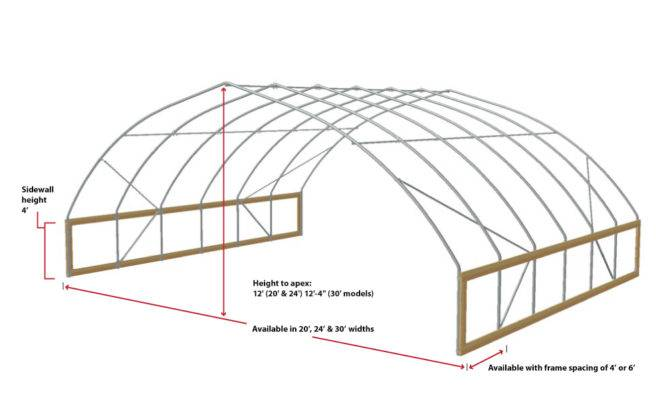 Fieldpro Gothic High Tunnel Greenhouse