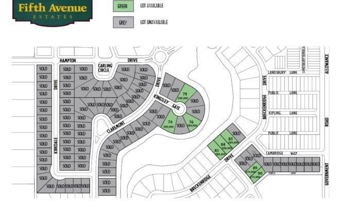 Fifth Avenue Estates Categories Lot Plans