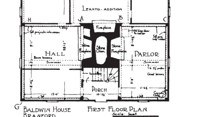 Fig First Floor Plan Typical New England Saltbox Home