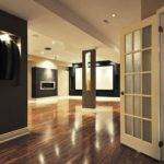 Finished Basement Contemporary Design Ideas