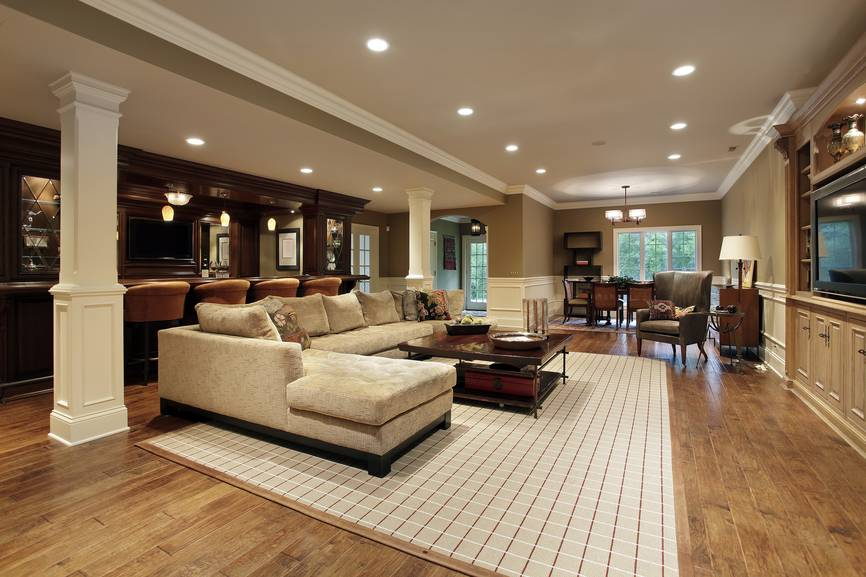 Finished Basement Man Cave Designs Many Styles House Plans 49825