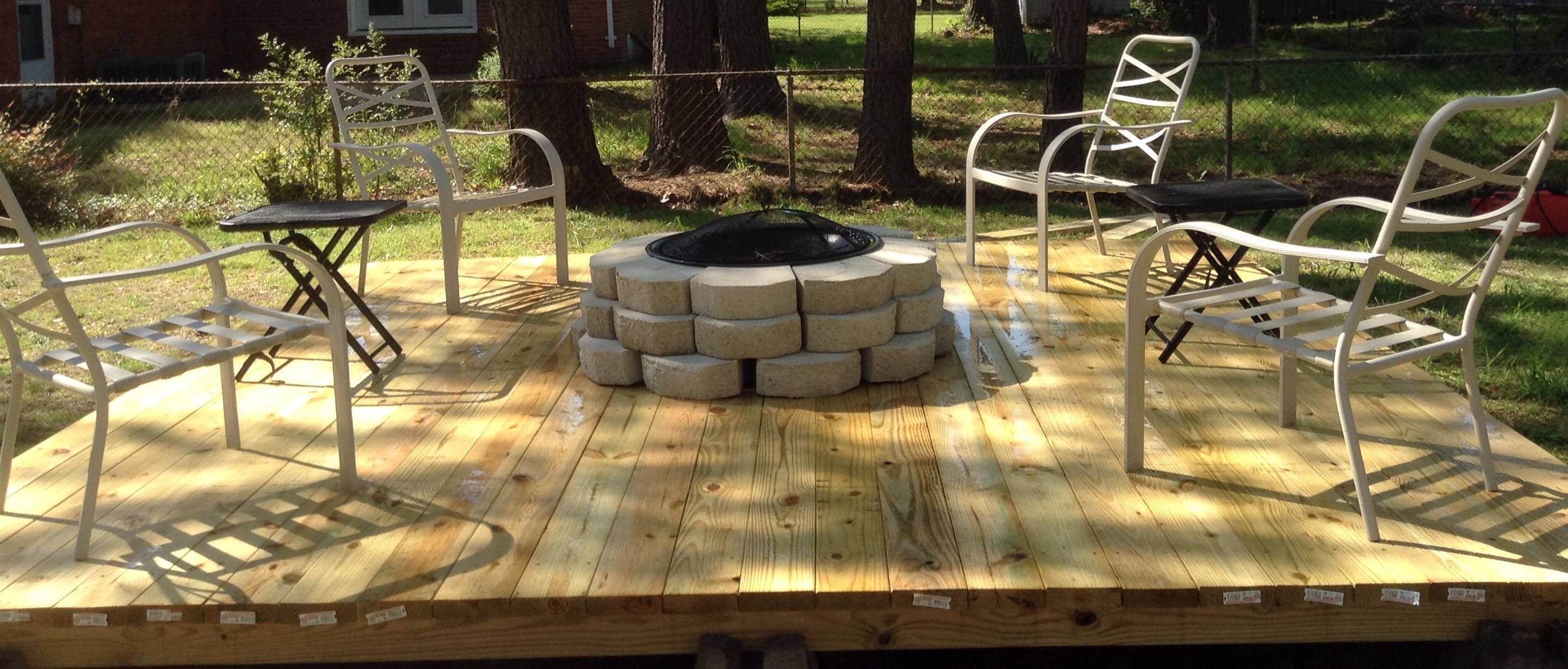 Fire Pit Floating Deck Decks Pinterest - House Plans | #48256