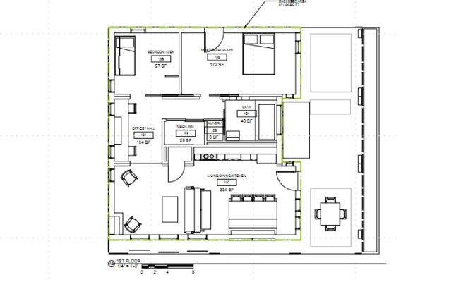 First Floor Plan Country Narrow Lot House