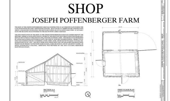 First Floor Plan Section Joseph Poffenberger Farm Shop