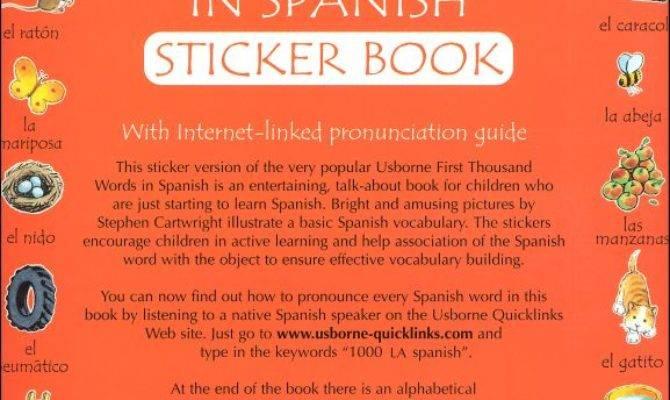 First Thousand Words Spanish Sticker Book