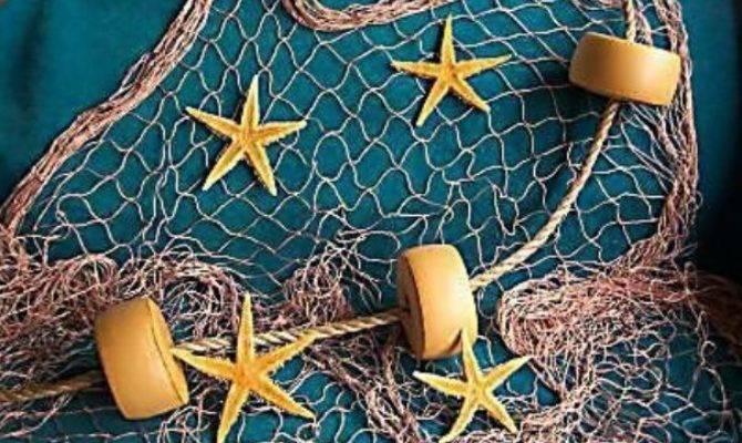 Fishing Star Fish Rope Floats Tropical Wall
