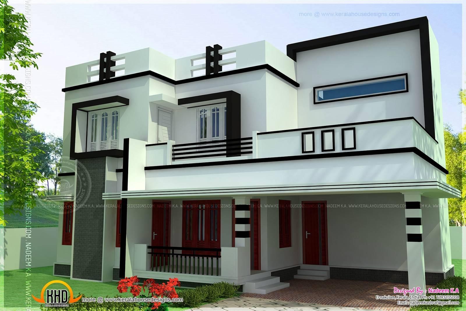 Flat Roof Bedroom Modern House Kerala Home Design Floor Plans House Plans 66941