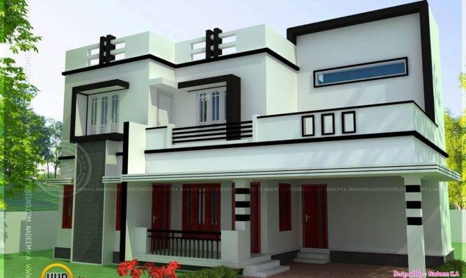 Flat Roof Bedroom Modern House Kerala Home Design
