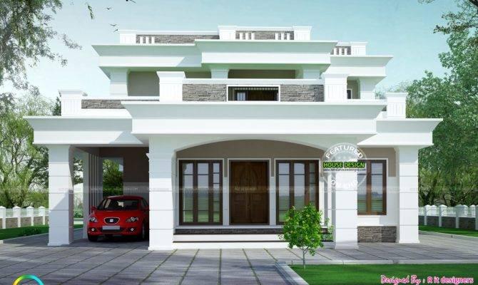 Flat Roof Box Type Home Kerala Design
