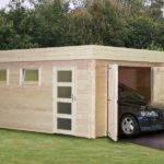 Flat Roof Garage Designs Wooden