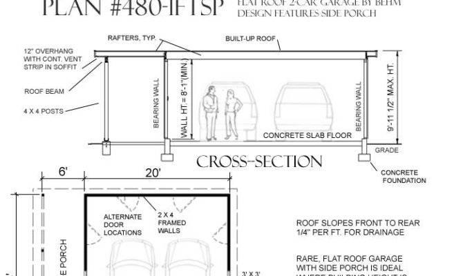 Flat Roof Garage Plans Ftsp Behm