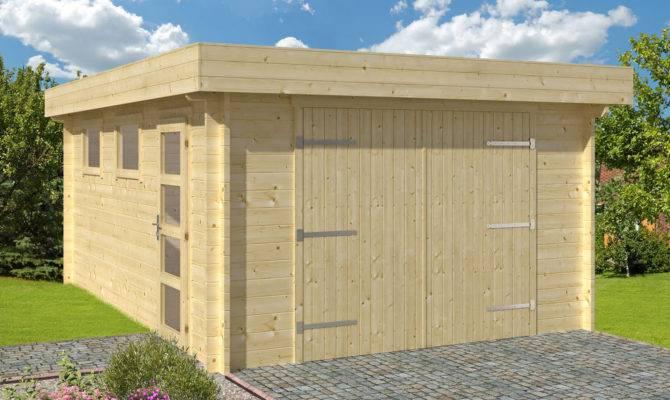 Flat Roof Garage Plans