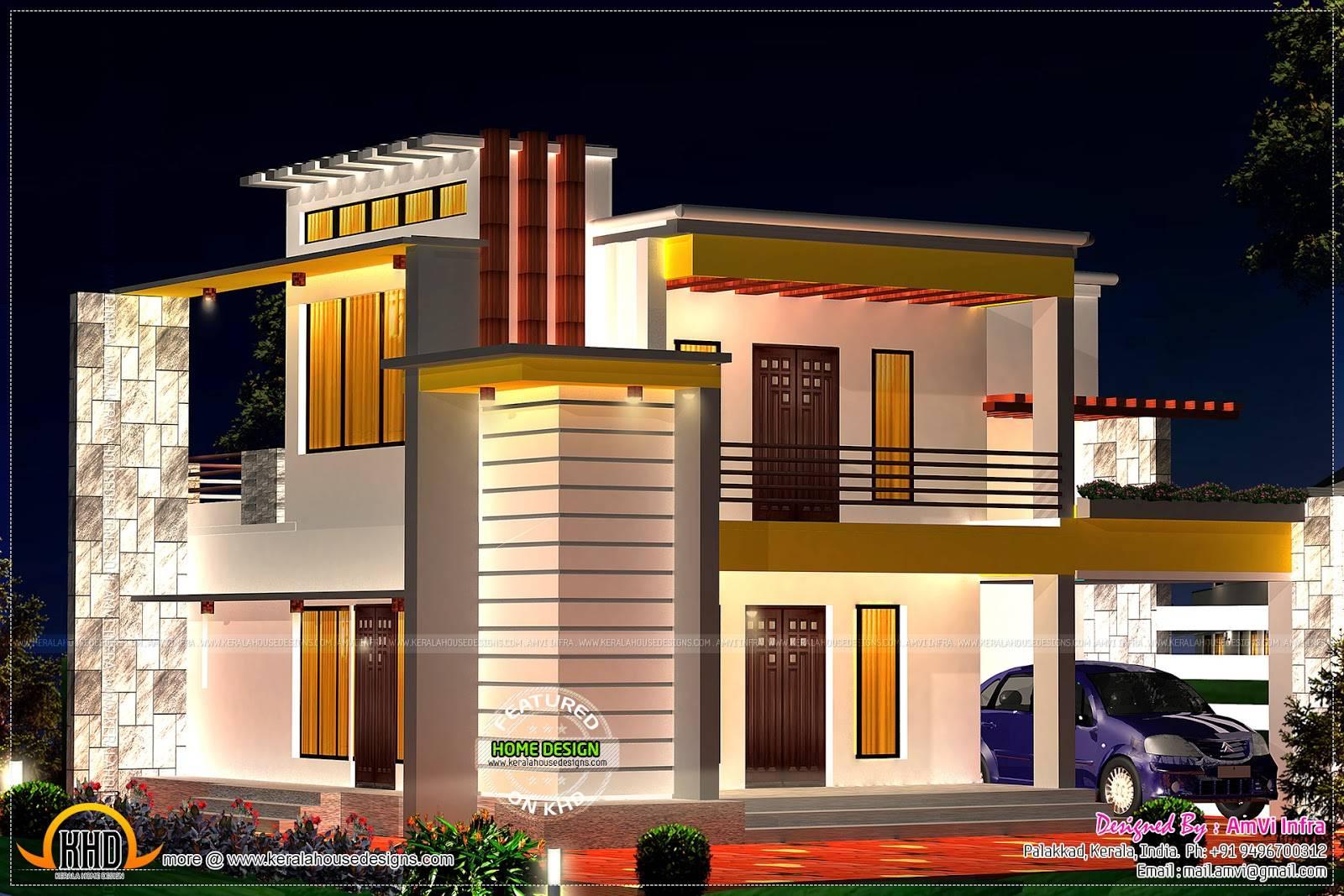Flat Roof Home Floor Plan Interior Design Plans House Plans 65850