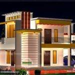 Flat Roof Home Floor Plan Kerala Design Plans