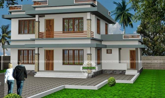 Flat Roof House Design Sachin Kerala Home