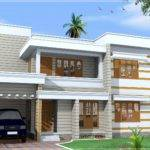 Flat Roof House Exterior Feet Design Plans