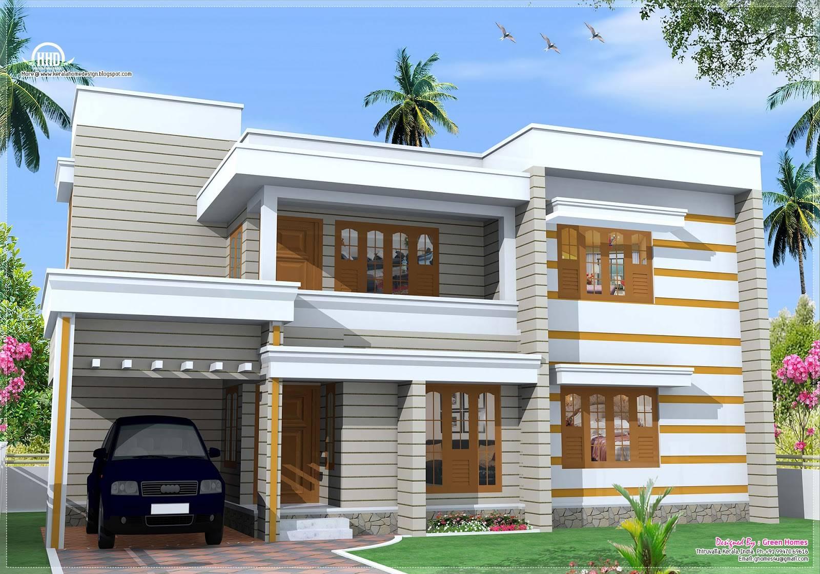 Flat Roof House Exterior Feet Design Plans House Plans 65859