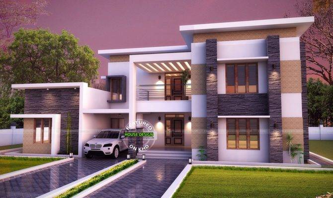 Flat Roof House Plan Kerala Home Design House Plans 132074