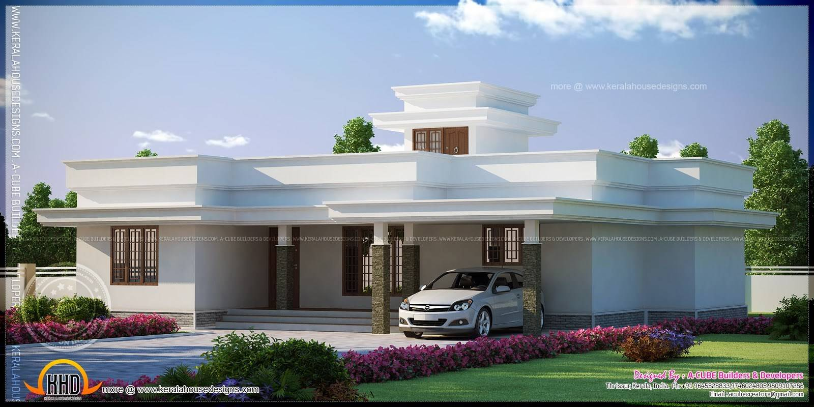 Flat Roof House Plans Designs Single Storey Houses House Plans 115048