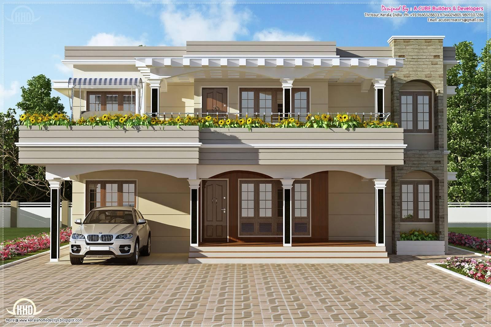 Flat Roof Houses Modern Rambler House Designs Lrg House Plans 42125