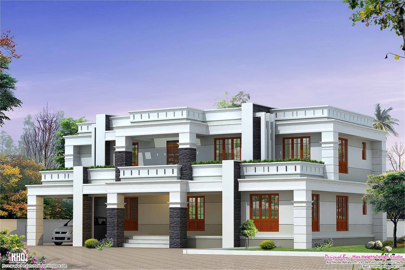 Flat Roof Luxury Home Design Architecture House Plans   House ...