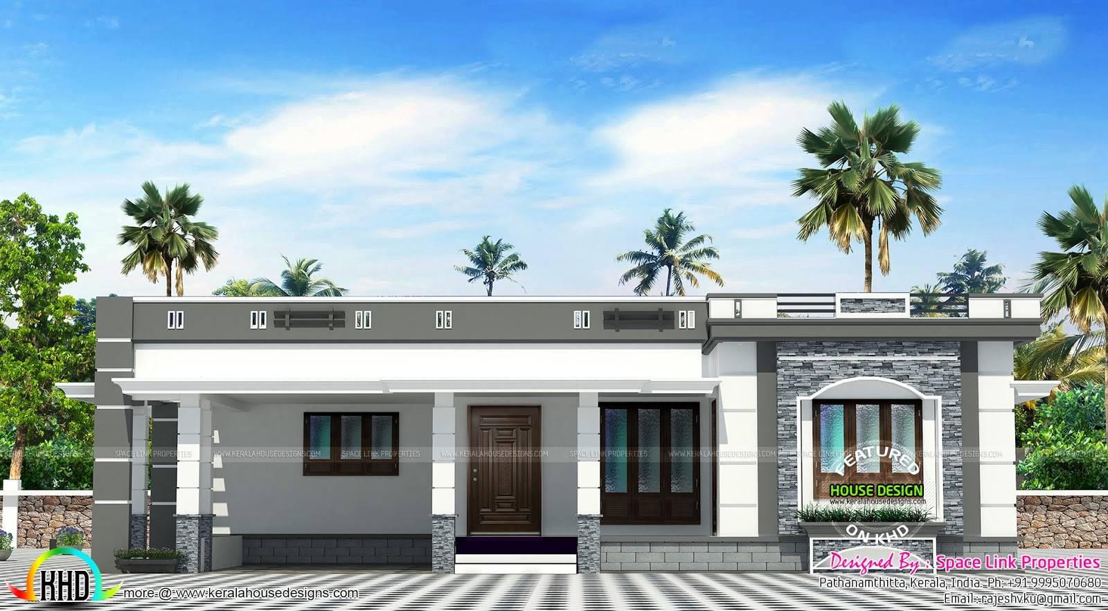 Flat Roof Single Floor Home Kerala Design House Plans 87907