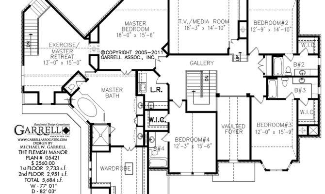 Flemish Manor House Plan Floor Estate Plans