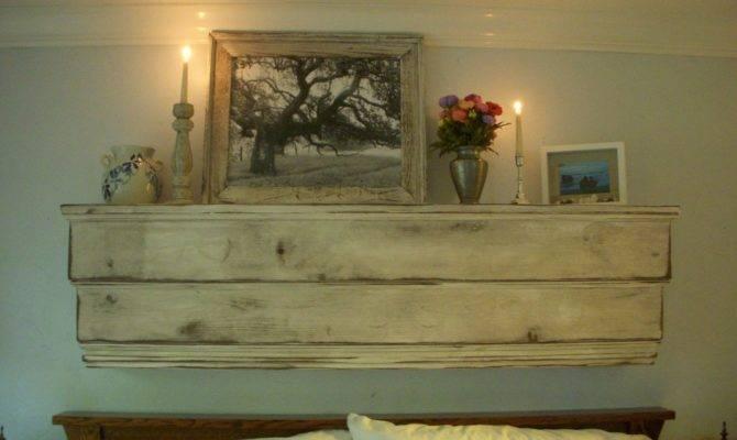 Floating Wall Mantel Wood Shelf Ledge Shabby Furniture