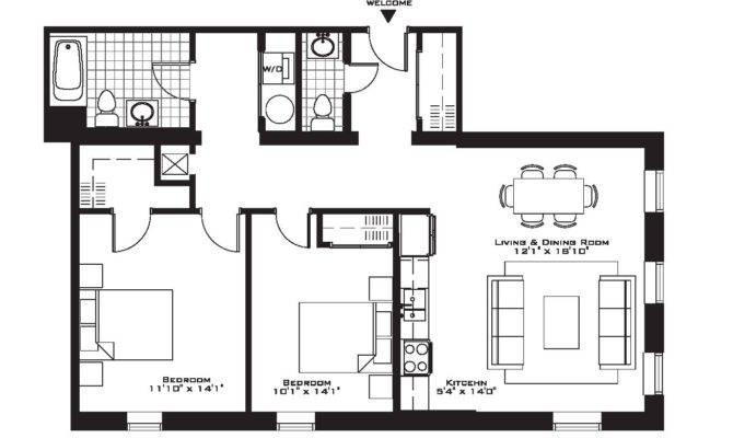 Floor Apartment Plan Decorating Ideas