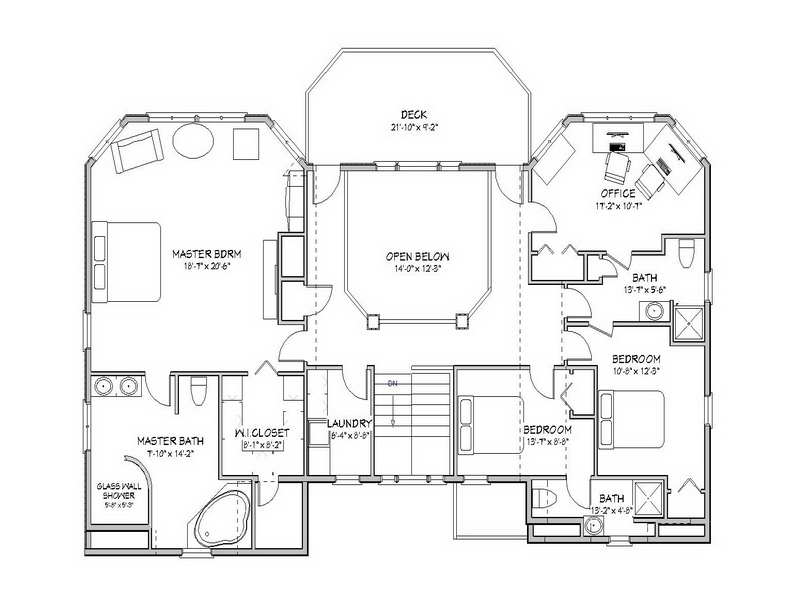 Floor Beach House Plans Design Plan