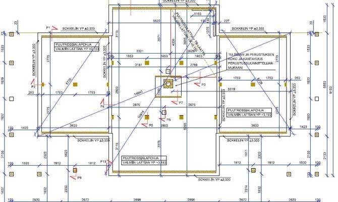 Floor Foundation Plumbing Plan Villa Linnea