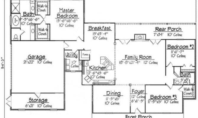 Floor Plan Acadian Style House Plans Home