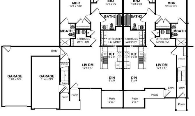 Floor Plan Attached Garage