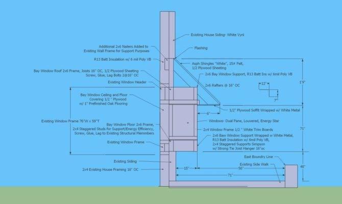 Floor Plan Bay Window Permit Cad Build Notes
