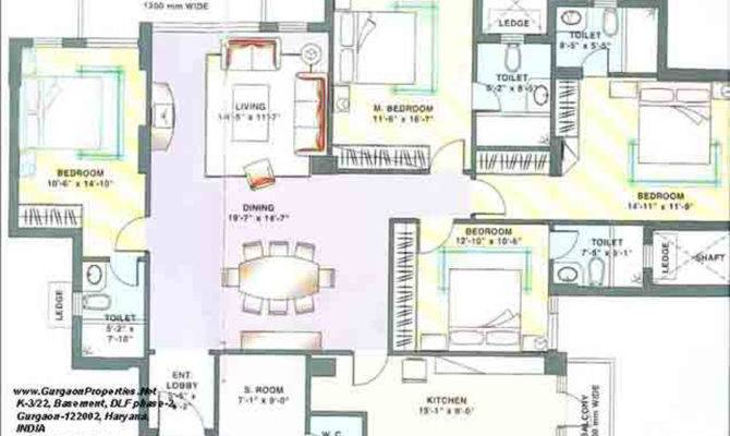 Floor Plan Bhk Dlf Trinity Towers Gurgaon