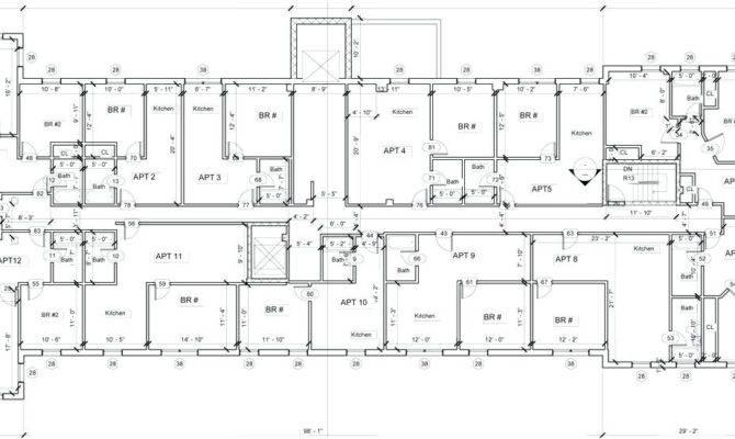 Floor Plan Bldg Dimentions Unit Apartment