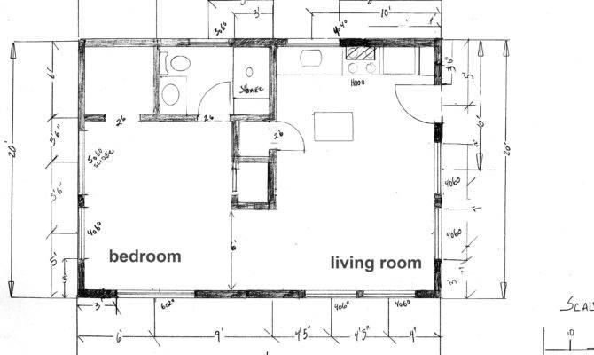 Floor Plan Cabin Beach Under Square Feet