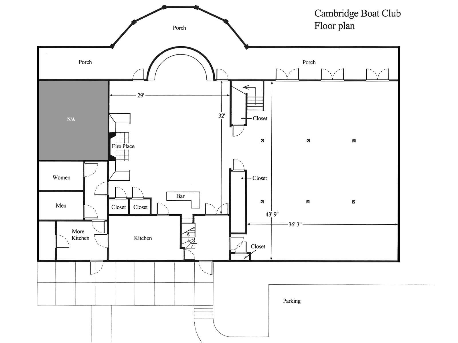 Floor Plan Cambridge Boat Club House Plans 113835