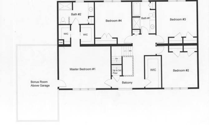 Floor Plan Distinctive Master Bedroom Bath Second